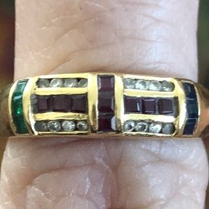 Jewelry - 14k gold ring with precious gemstones